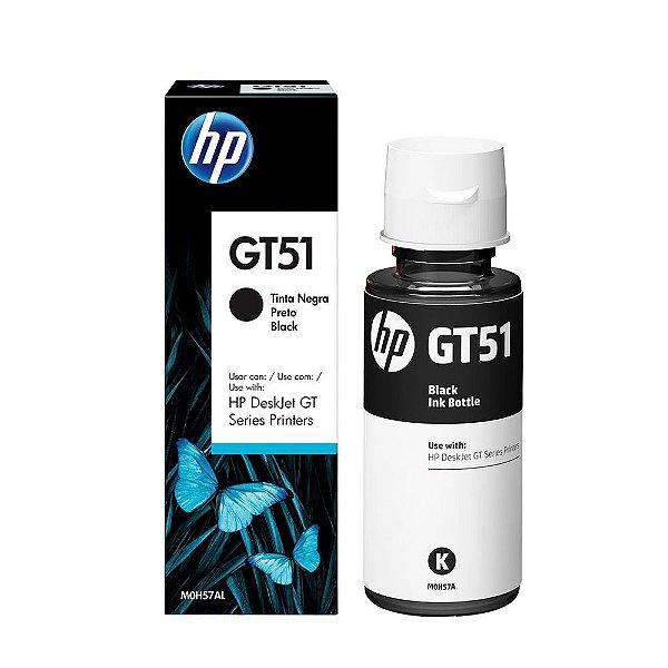 Tinta HP GT51   GT 5822   GT 5820   GT 51 Preta Original 90ml