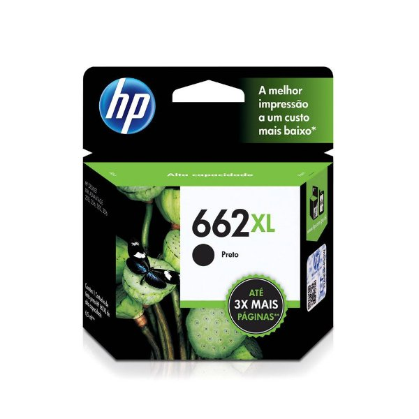 Cartucho HP 2546 | HP 662XL | CZ105AB Deskjet Ink Advantage Preto Original 6,5ml