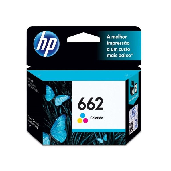 Cartucho HP 1516 | HP 662 | CZ104AB Deskjet Ink Advantage Colorido Original 2ml