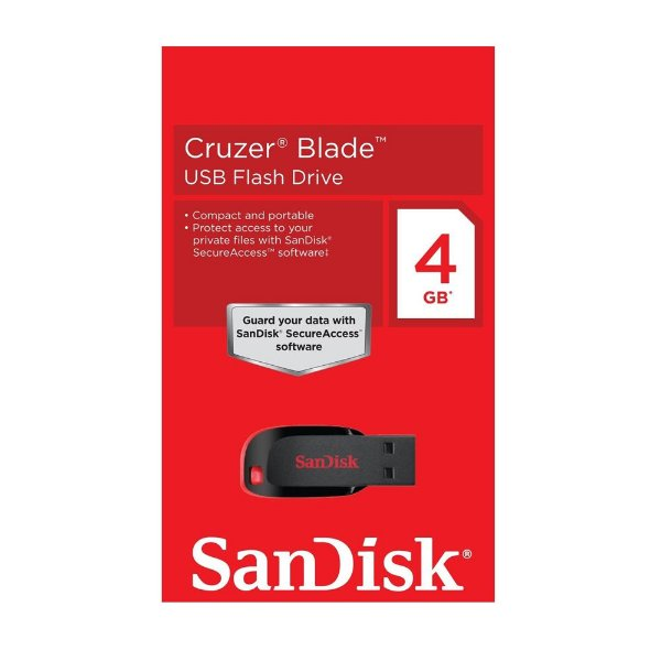 Pen Drive 4GB Sandisk Cruzer Blade