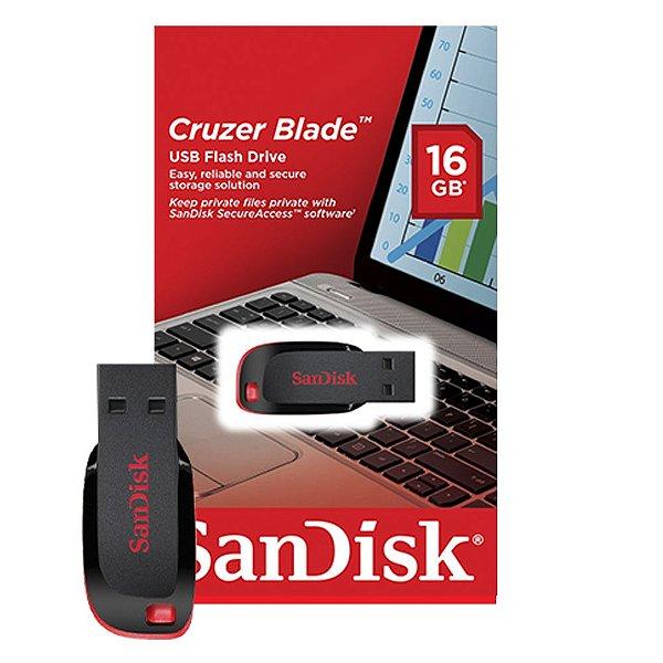 Pen Drive 16GB Sandisk Cruzer Blade