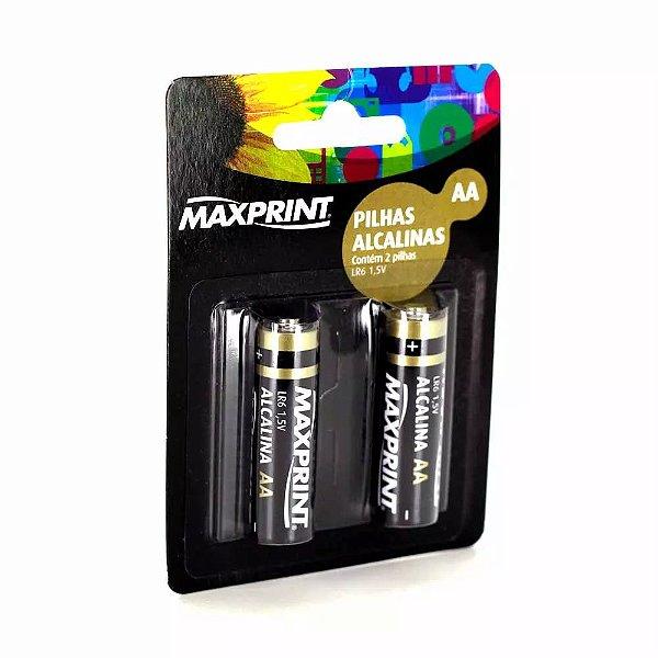 Pilha Palito AAA Alcalina Maxprint 1,5v com 02 Unidades