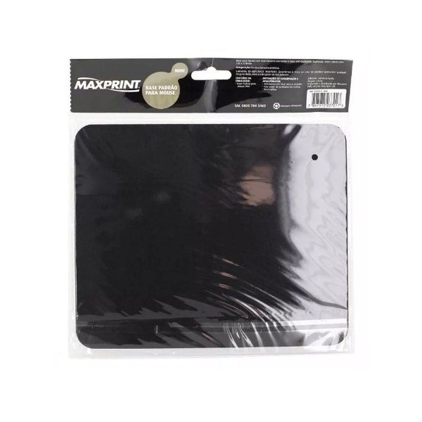 Base para Mouse Mousepad Preto Maxprint 4mm
