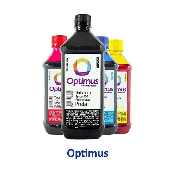 Kit de Tinta Epson L4150 Preta 1 litro + 500ml Coloridas Optimus