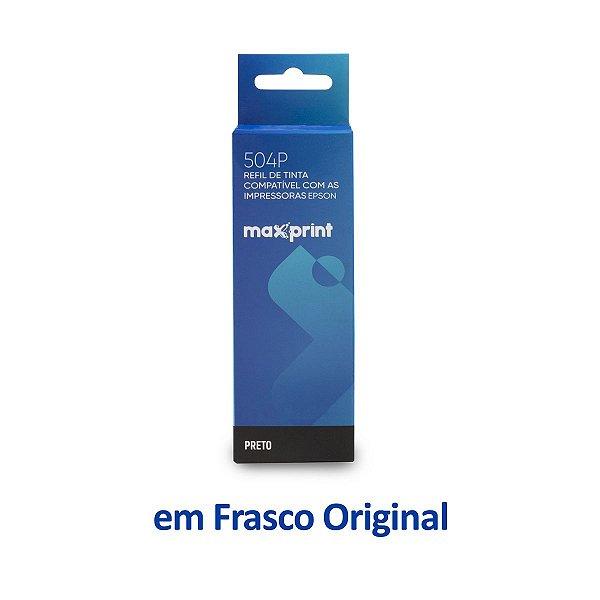 Garrafa de Tinta Epson L4150 EcoTank | T504120 | 504 Preta Maxprint 127ml