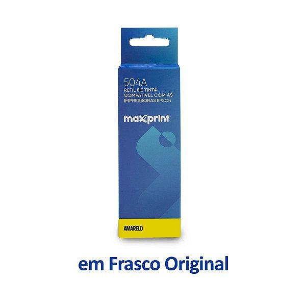Garrafa de Tinta Epson L4150 EcoTank | T504420 | 504 Amarela Maxprint 70ml
