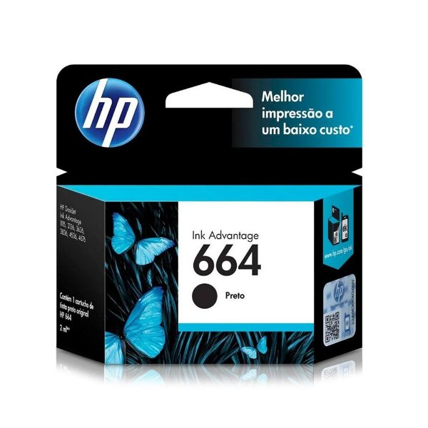 Cartucho HP 3776   HP 664 DeskJet Ink Advantage Preto Original