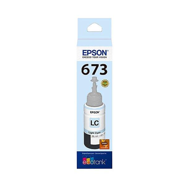 Tinta Epson L805 | 673 | T673520 EcoTank Ciano Claro Original 70ml