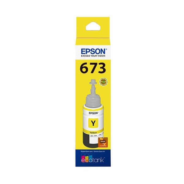 Tinta Epson L850   673   T673420 EcoTank Amarela Original 70ml