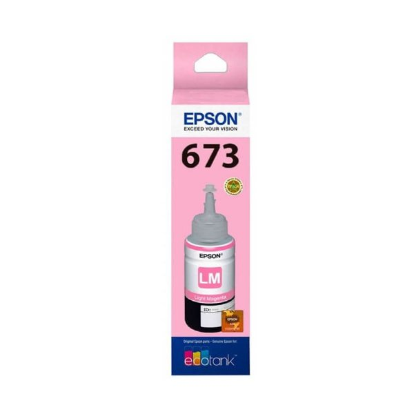 Tinta Epson L850   673   T673620 Magenta Claro Original 70ml