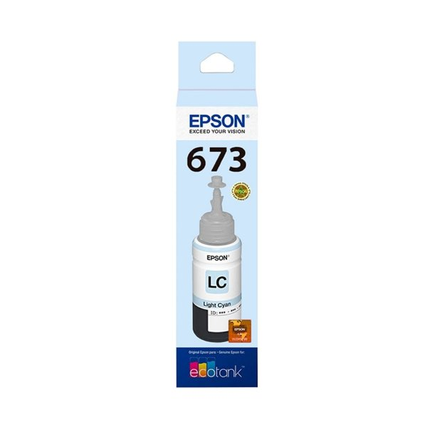 Tinta Epson L800   673   T673520 EcoTank Ciano Claro Original 70ml