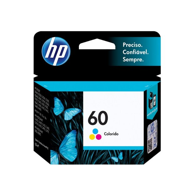 Cartucho HP F4280 | HP 60 | CC643WB | HP 60 DeskJet Colorido Original 3ml
