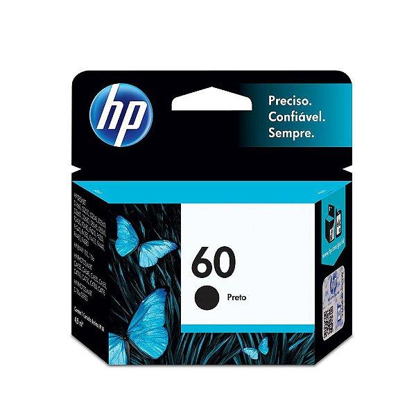 Cartucho HP D2660 | HP 60 | CC640WB | HP 60 DeskJet Preto Original 4,5ml