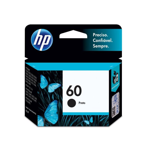 Cartucho HP F4280 | HP 60 | CC640WB | HP 60 DeskJet Preto Original 4,5ml