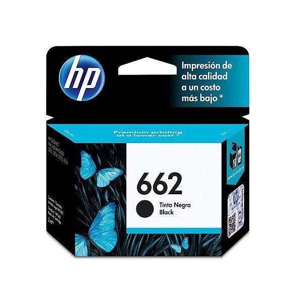 Cartucho HP 3510   HP 662   CZ103AB Deskjet Ink Advantage Preto Original 2ml