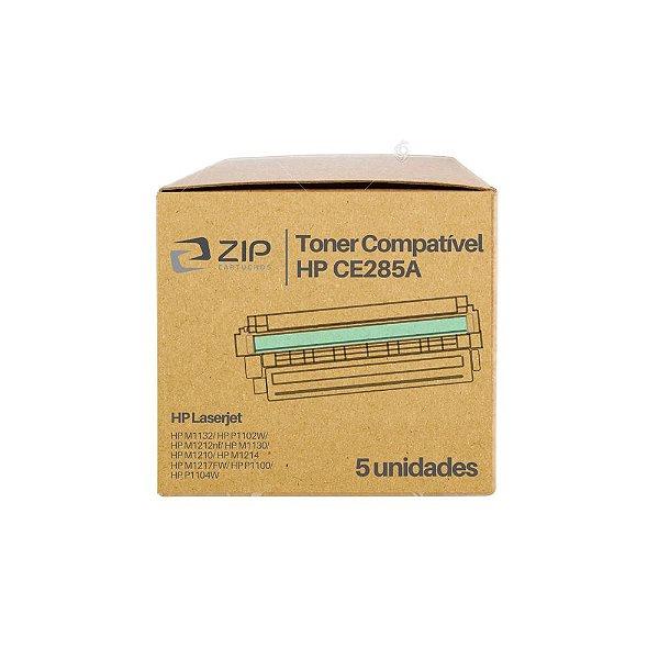 Kit 5 Toners HP P1102 | 1102 | CE285A Laser Preto Compatíveis para 2.000 páginas