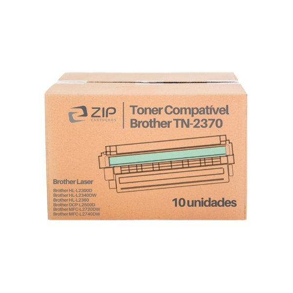 Kit de Toner Brother MFC-L2740DW | TN-2370 Preto Compatível 10un