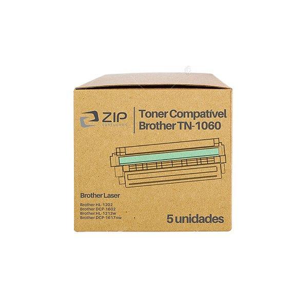 Kit 5 Toners Brother HL-1112 | 1112 | TN-1060 Laser Preto Compatíveis para 1.000 páginas