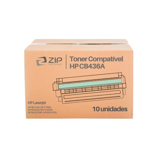 Kit 10 Toners HP P1505N   1505   CB436A Laser Preto Compatíveis para 2.000 páginas