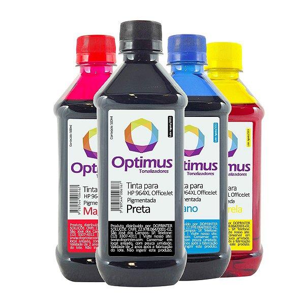 Kit de Tinta HP 964XL | 964 OfficeJet Pro Pigmentada Preta + Coloridas 500ml