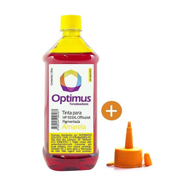 Tinta HP 7612 OfficeJet | HP 933XL Amarela Pigmentada 1 litro