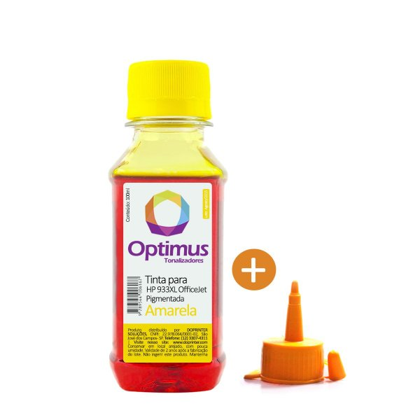 Tinta HP 7510 OfficeJet | HP 933XL Amarela Pigmentada 100ml