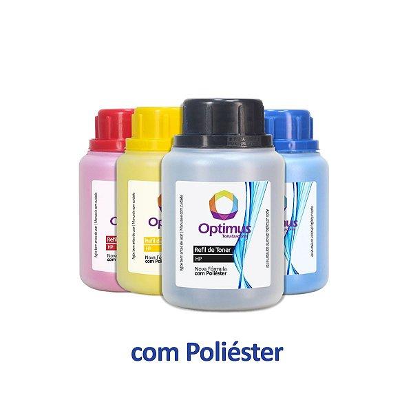 Kit 4 Refil de Pó para Toner Samsung CLT-K404S Preto 75g + Coloridos 50g