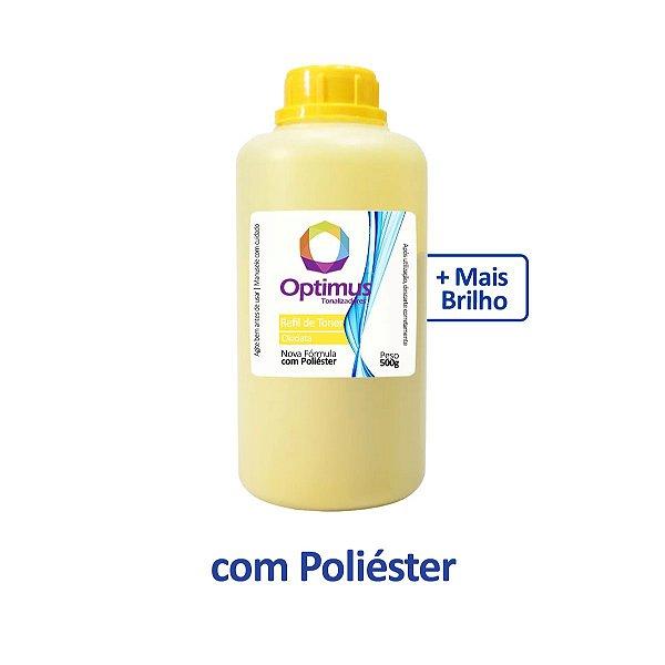 Refil de Pó de Toner HP 201A | CF402A Optimus Amarelo 500g