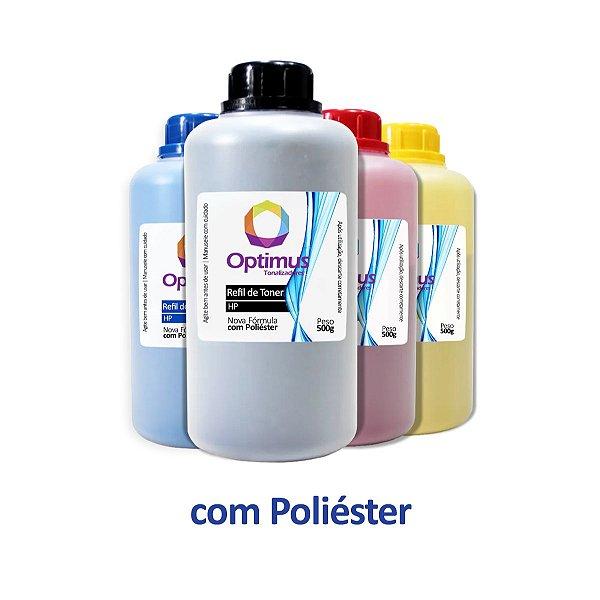 Kit de Refil de Pó de Toner HP CF500A | 202A Optimus Preto + Colorido 500g