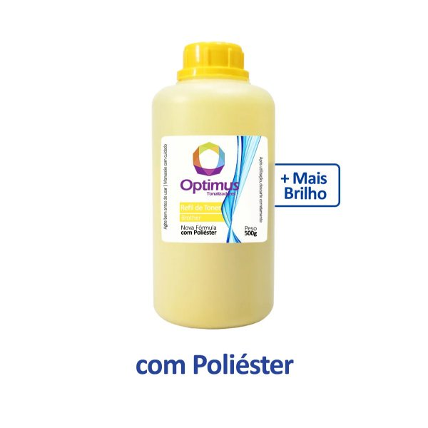 Refil de Pó de Toner Brother TN-213Y Optimus Amarelo 500g