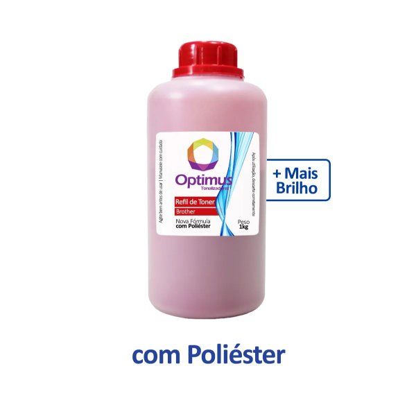 Refil de Pó de Toner Brother TN-213M Optimus Magenta 1kg
