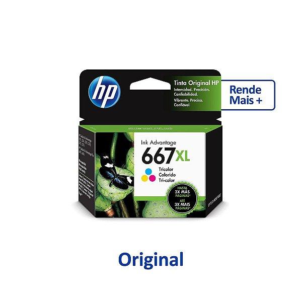 Cartucho HP 2776 | HP 667XL | 3YM81AL Colorido Original 8ml