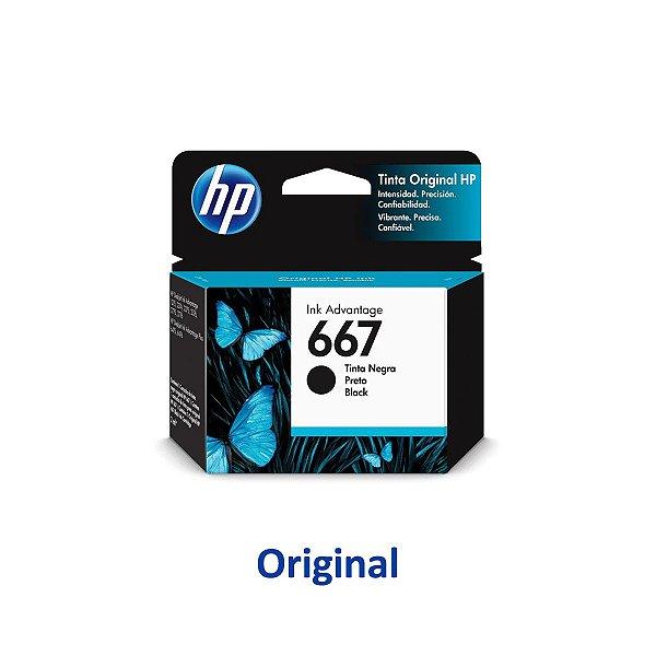 Cartucho HP 667 | 3YM79AL | HP 667 Preto Original 2ml