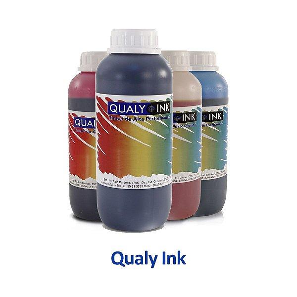 Kit de Tinta Canon G2110 Mega Tank   G2110   GI-190 Qualy Ink Preta + Coloridas 1 litro