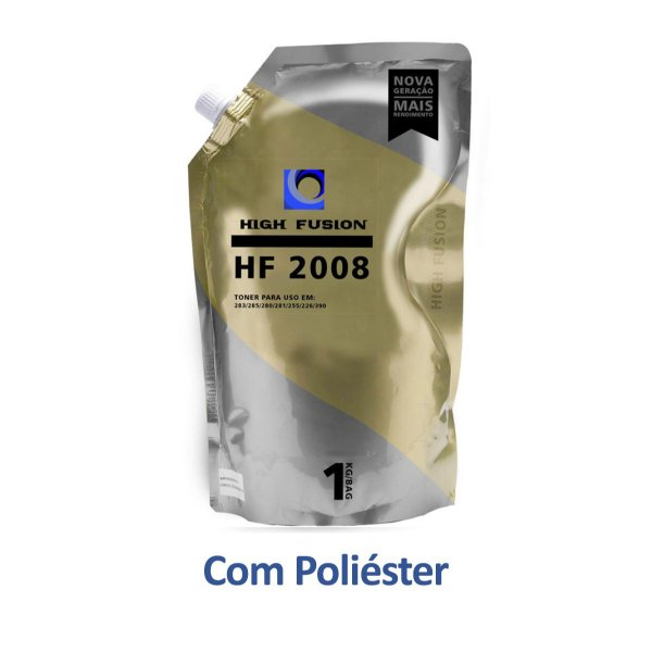 Refil de Pó de Toner HP P1006 | CB435A | HF2008 LaserJet Pro Poliéster High Fusion 1kg