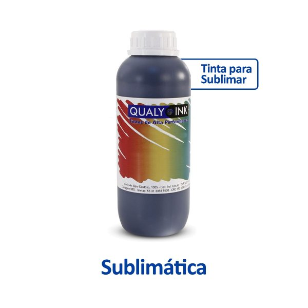Tinta Epson L6171 EcoTank | T504120 | 504 | L6171 Sublimática Qualy Ink Preta 1 litro