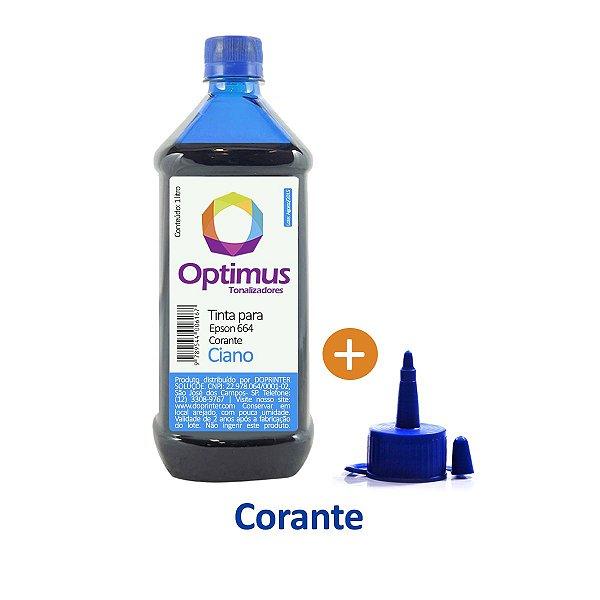 Tinta Epson L210 | T664220 | 664 EcoTank Optimus Corante Ciano 1 litro