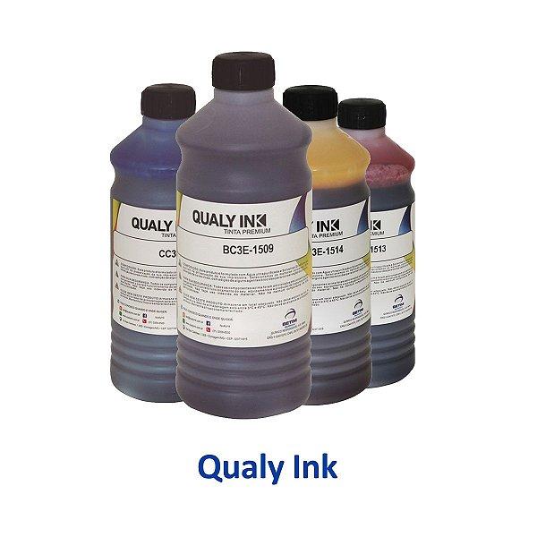 Kit de Tinta Epson L656   T664120   664   Qualy Ink Preta + Coloridas 1 litro
