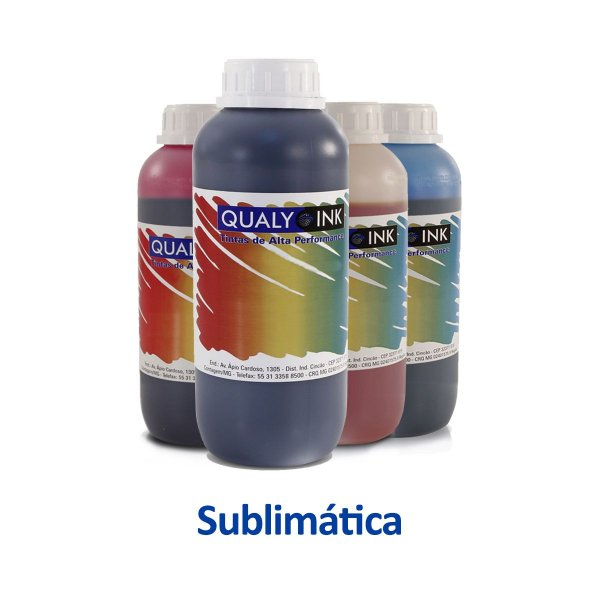 Kit de Tintas Epson L355   T664120   664   EcoTank Sublimática Qualy Ink 1 litro