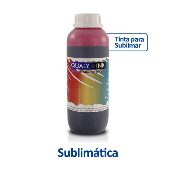 Tinta Epson L455   T664320   664   EcoTank Sublimática Qualy Ink Magenta 1 litro