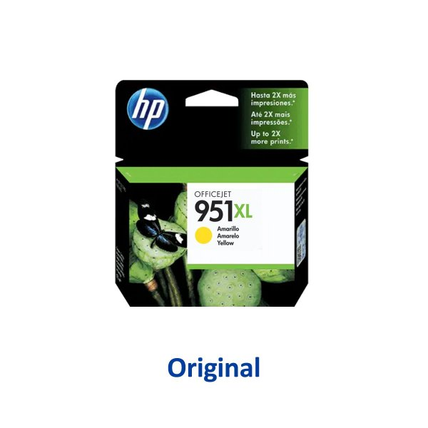 Cartucho HP 951XL | CN048AB | HP 951XL Officejet Amarelo Original 17ml