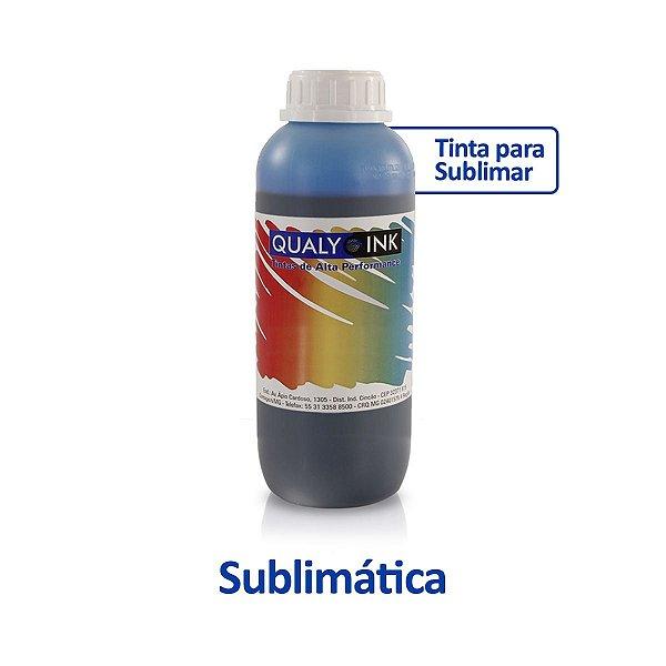 Tinta Epson L495   T664220   664 EcoTank Sublimática Qualy Ink Ciano 1 litro