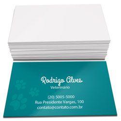 Cartão de visita 4x0 500un.