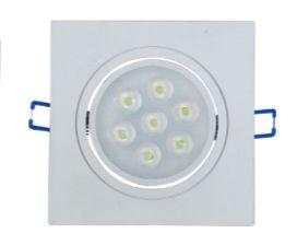 Spot quadrado embutir Super LED 7W 9,2x9,2cm