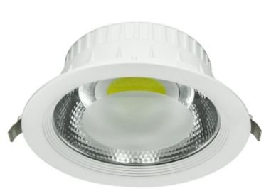 Luminária redonda LED COB embutir 20W Ø 19cm