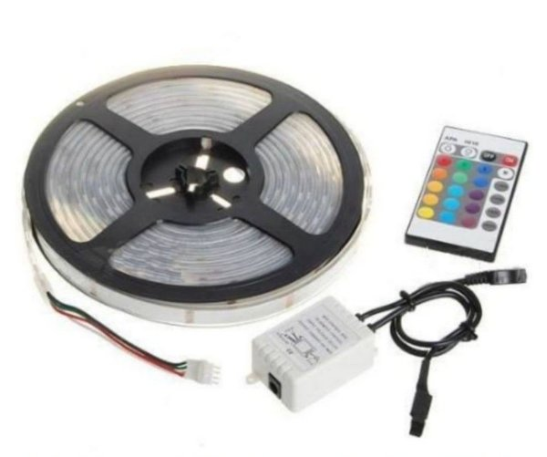 Fita LED 5050 IP65 RGB (Colorida) - Rolo com 5 metros