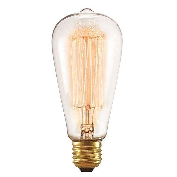 Lâmpada Filamento Carbono Thomas Edson 40W ST64