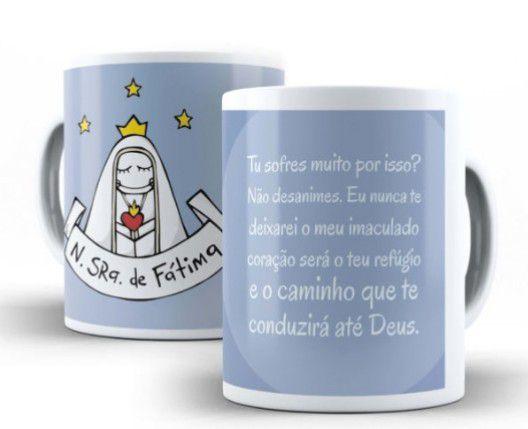 CANECA NOSSA SENHORA DE FÁTIMA