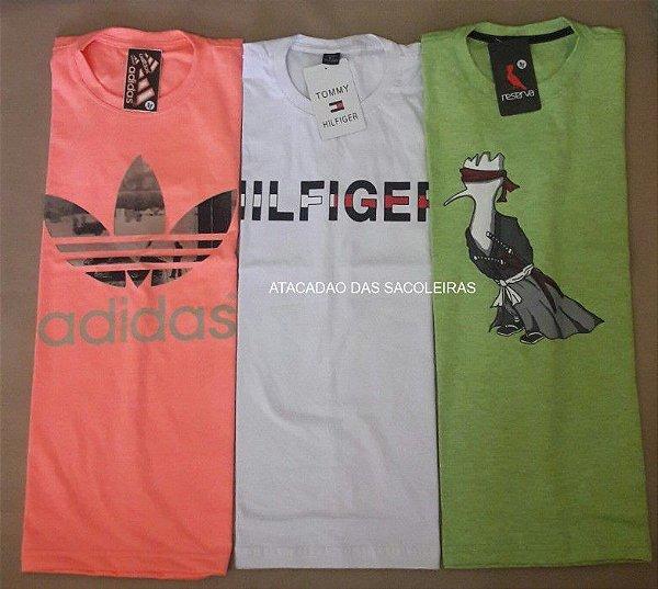 Camisetas 30.1 Malha Penteada Silkscreen - 20 Peças