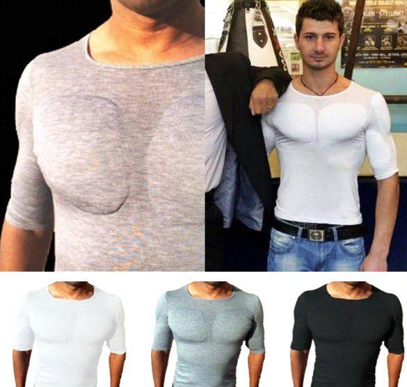 Camisetas com Enchimento Masculino - 60 Peças Sob Encomenda.